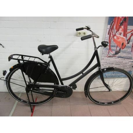Oma fiets mat zwart